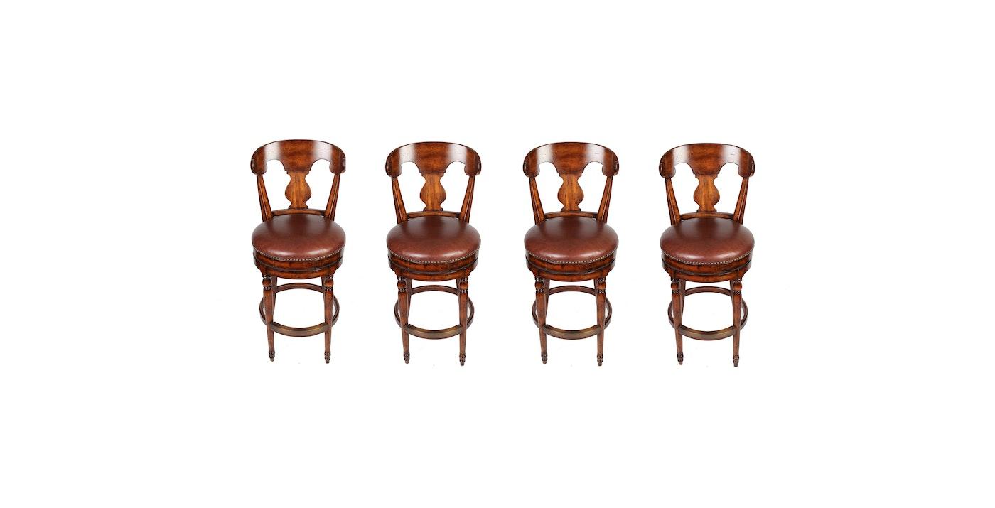 Set Of Four Bar Stools By Artistica Ebth
