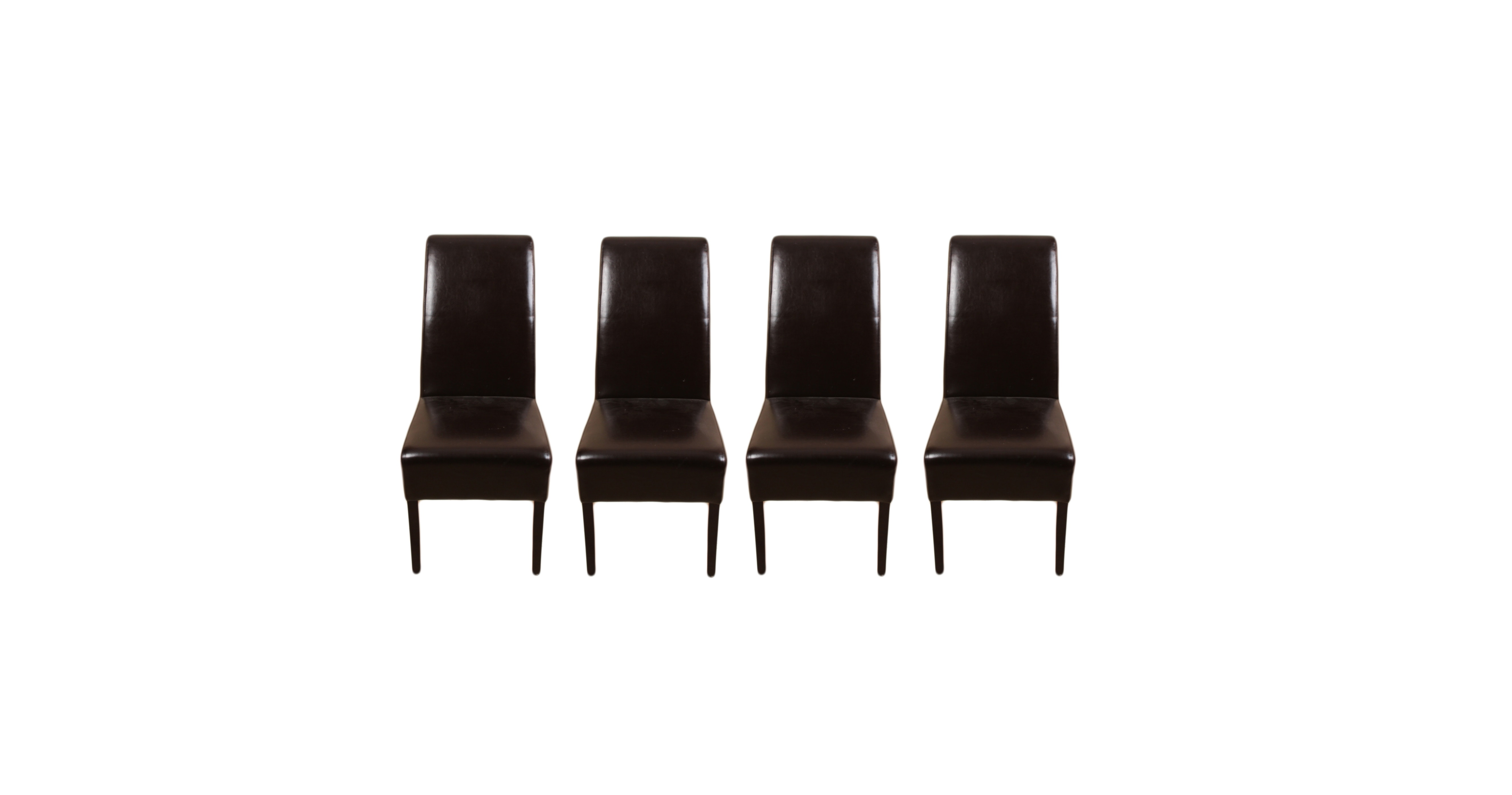 Four Palecek Hudson Brown Leather Dining Chairs ...  sc 1 st  EBTH.com & Four Palecek Hudson Brown Leather Dining Chairs : EBTH