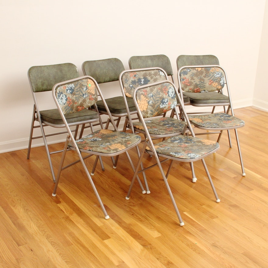 Set Of Vintage Samsonite Folding Chairs Ebth