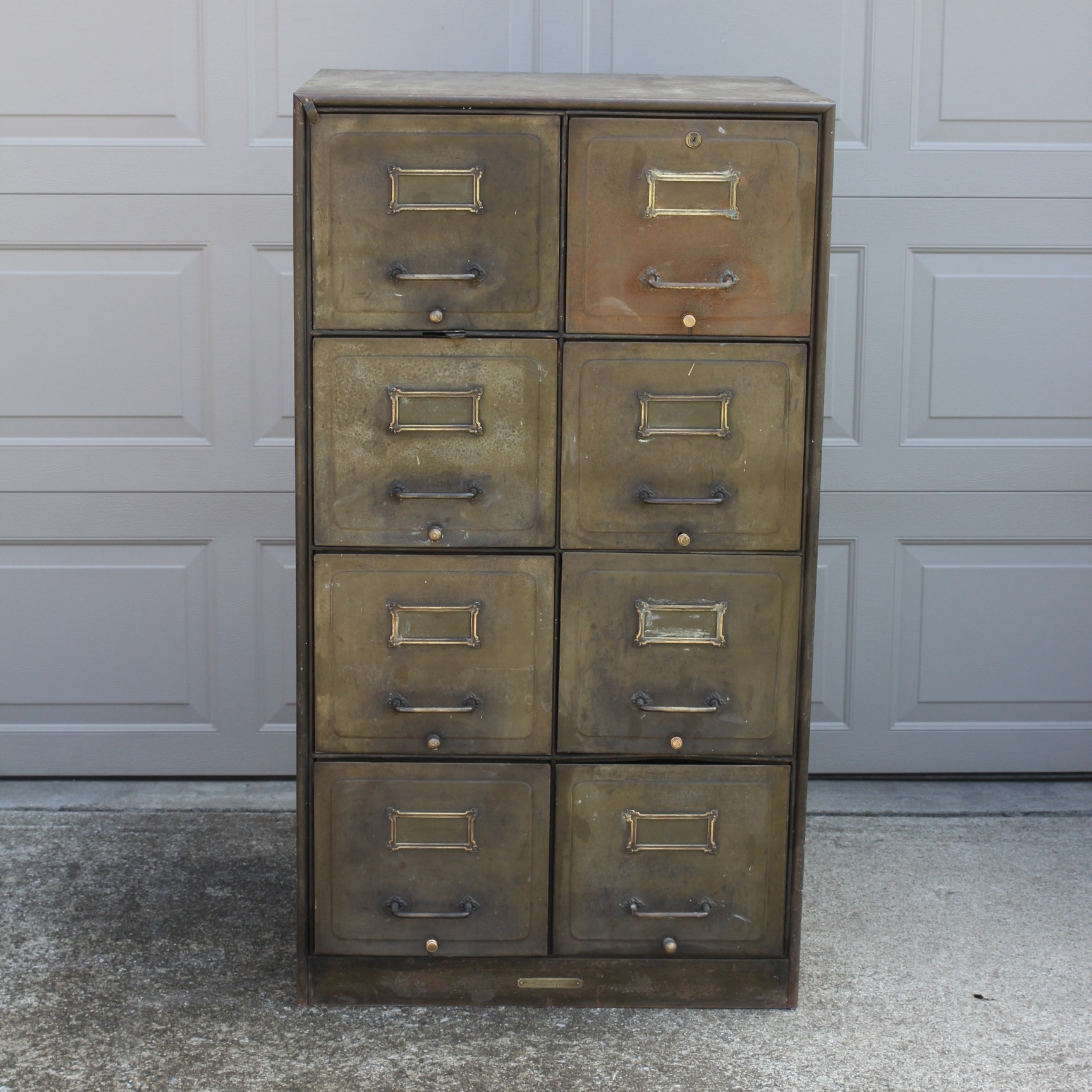 Antique Metal Filing Cabinet ...