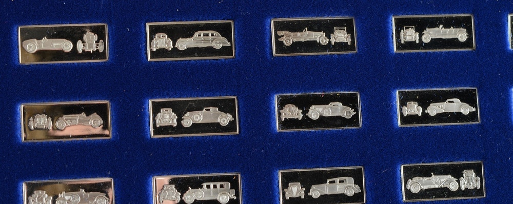 Classic Car Miniature Collection Sterling Silver