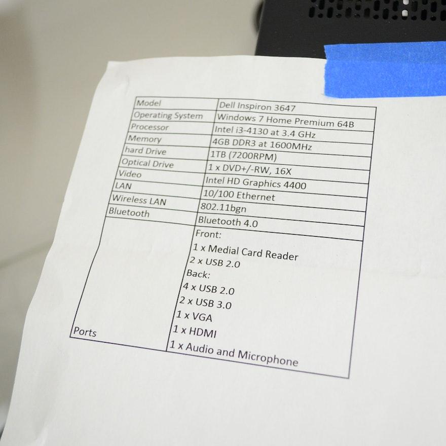 Dell Inspiron 3647 Desktop Computer And Achiever Paper