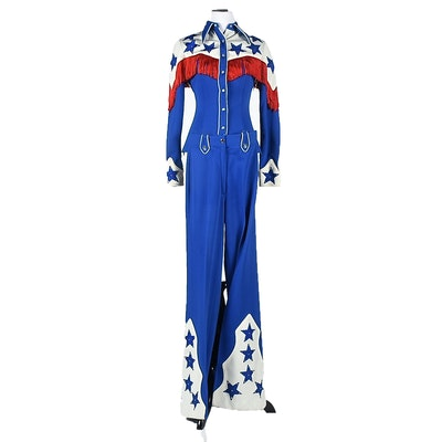 1975 Vintage Nudie's Rodeo Tailors of North Hollywood Red, White & Blue Stage Ensemble