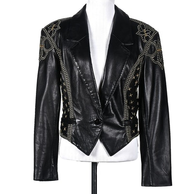 Michael Hoban of North Beach Leather Black Leather Motorcycle Jacket