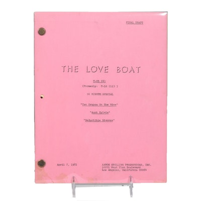 """Final Draft of Television Script for """"The Love Boat"""""""
