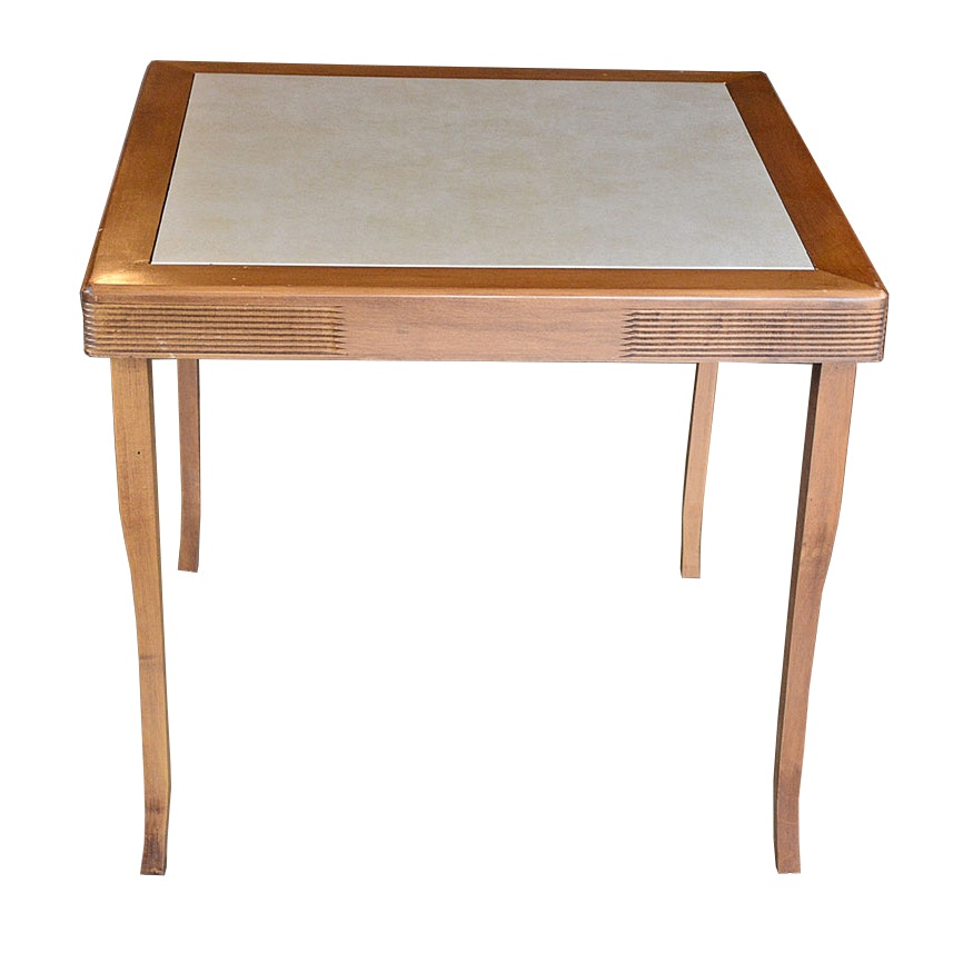 Merveilleux Vintage Louis Rastetter U0026 Sons Co. Wooden Card Table ...
