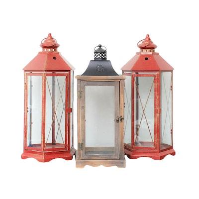 Three Metal Lanterns
