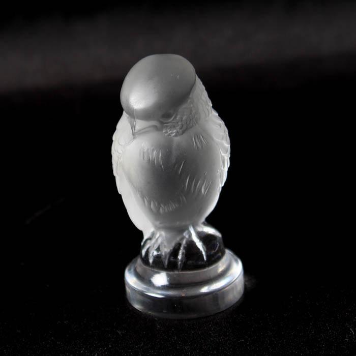 Lalique Crystal Chickadee Figurine