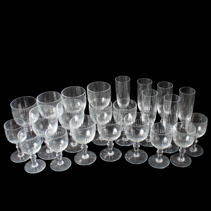 Collection of Crystal Baccarat Glassware