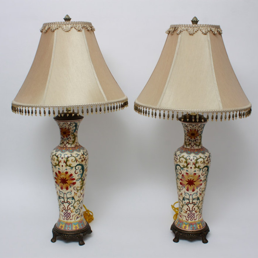 pair of italianate lamps by bombay co ebth
