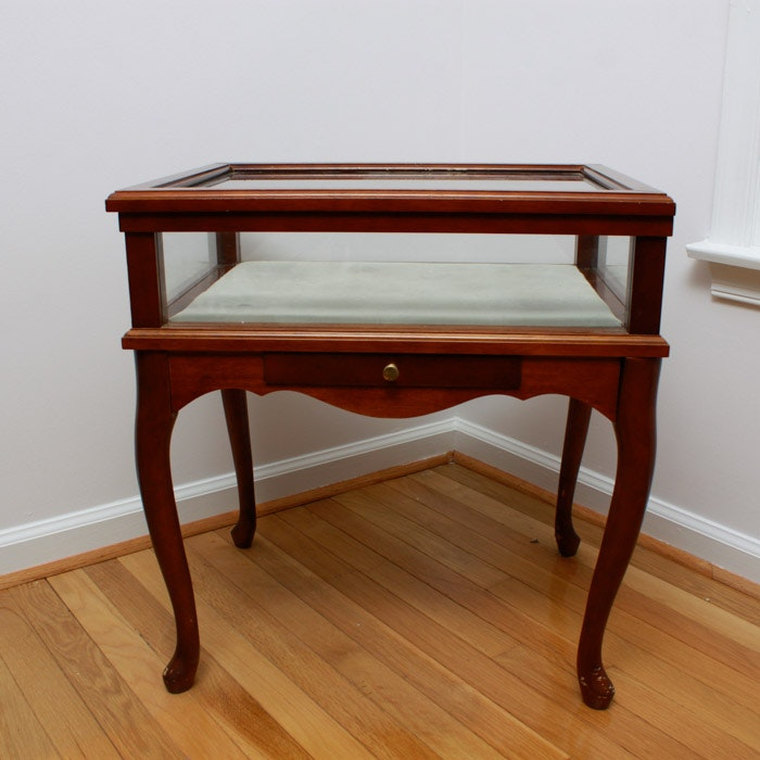 Curio Side Display Table With Glass Sides ...