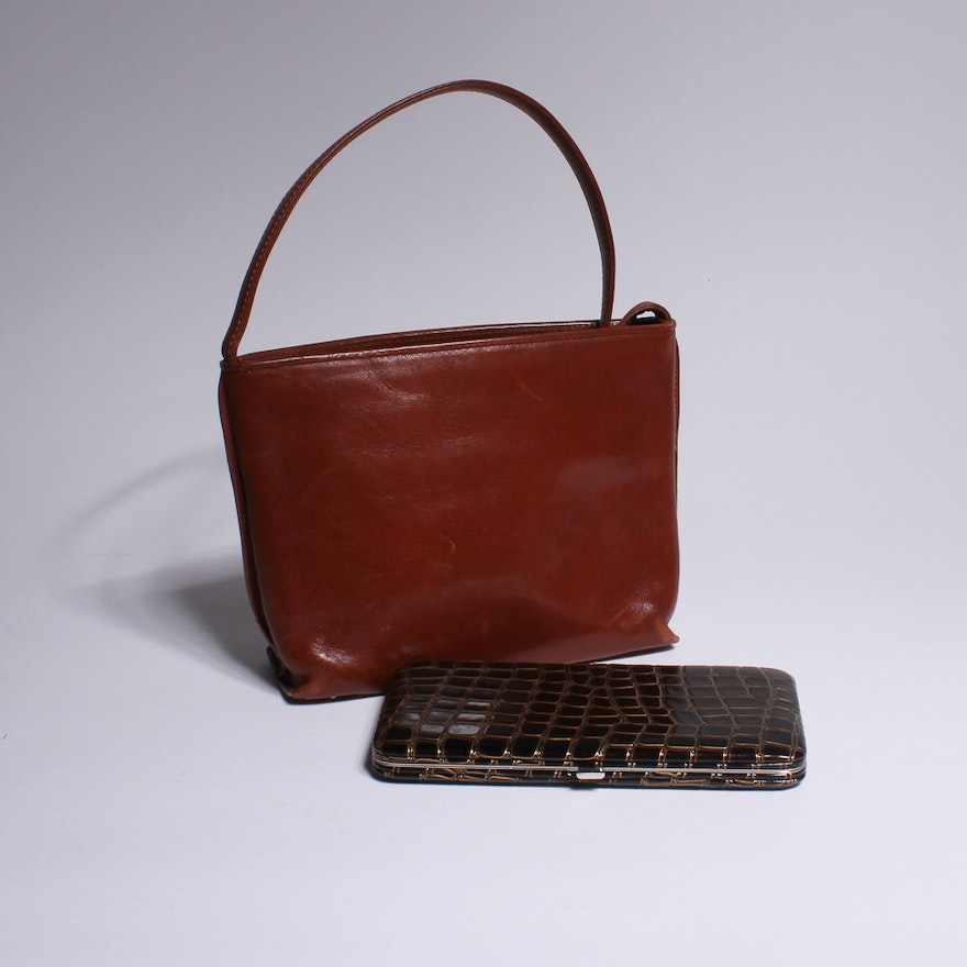 Vintage Monsac Leather Purse With Wallet