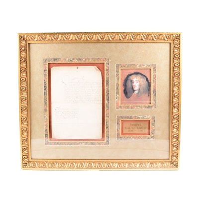 1688 Document Signed by King James II