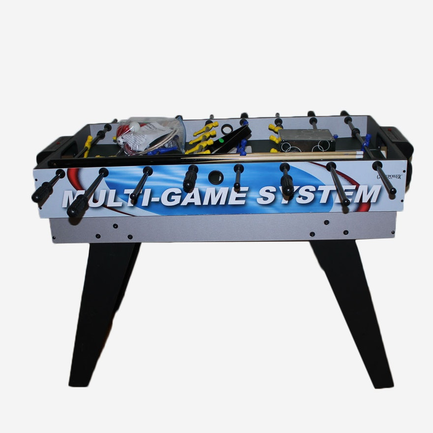 Childrens Gamepower MultiGame System Table EBTH - Gamepower foosball table