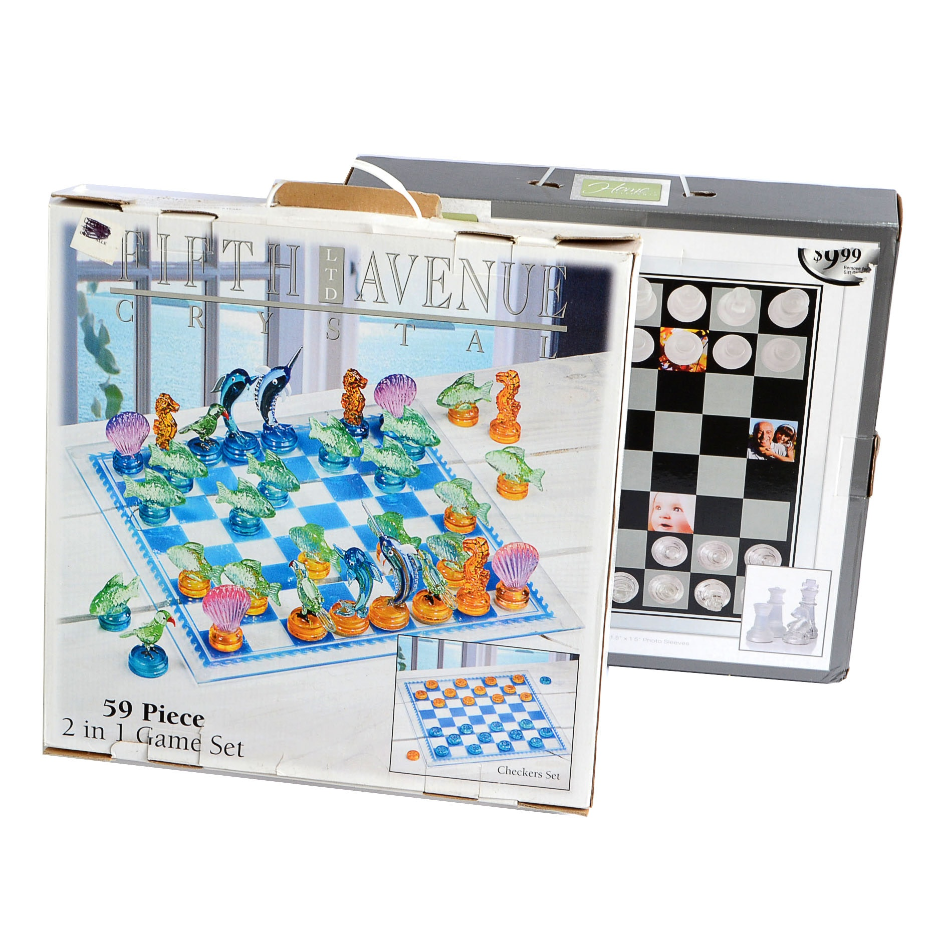 Fifth Avenue Crystal Chess Set And Photo Frame Chess Set Ebth