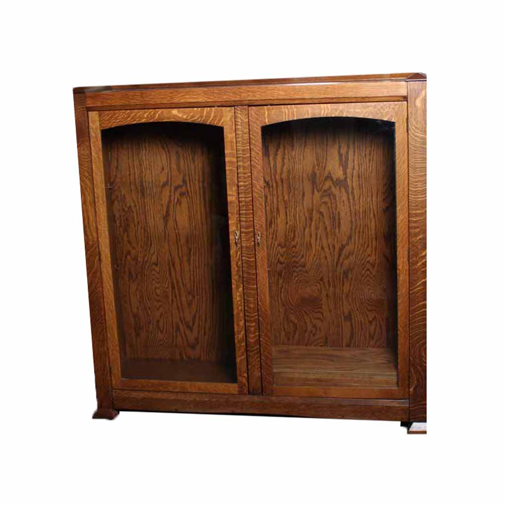 Tiger Oak Mission Style Display Cabinet : EBTH