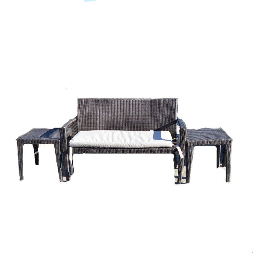 Residenz by Domus Ventures Patio Bench with End Tables