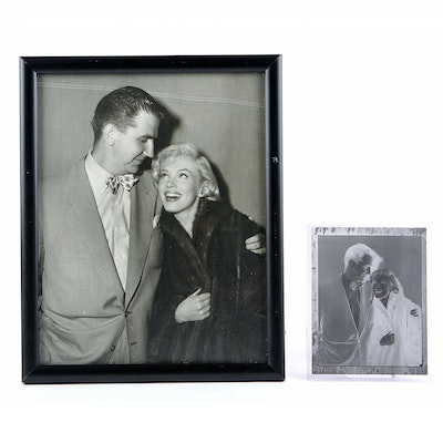Original Negative and Silver Gelatin Photograph of Ed McMahon and Marilyn Monroe