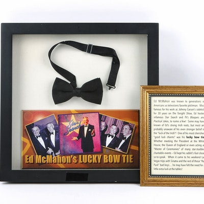 Ed McMahon's Lucky Bow Tie in Shadow Box