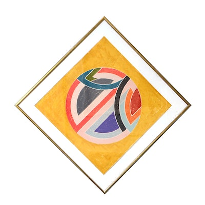Frank Stella Signed Lithograph and Screenprint