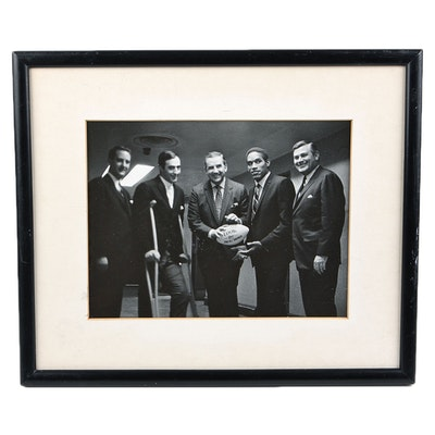 Framed Silver Gelatin Photograph of Ed McMahon, OJ Simpson and Others