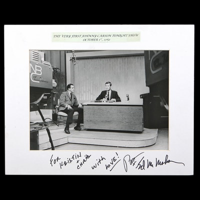 """Signed Silver Gelatin Print of First """"The Tonight Show Starring Johnny Carson"""""""