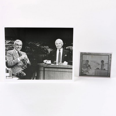 """Original Negative and Silver Gelatin Print of Ed McMahon and Johnny Carson on """"The Tonight Show"""""""