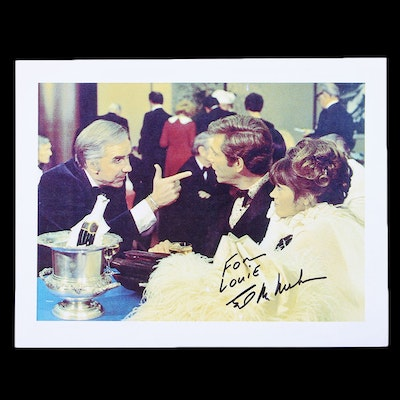 """Signed Digital Print of Ed McMahon with """"Fun with Dicka and Jane"""" Co-stars Jane Fonda and George Segal"""