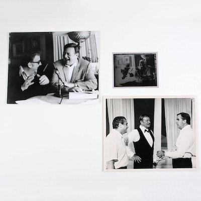 Silver Gelatin Print and Negative of Ed McMahon with John Wayne