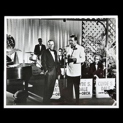 Silver Gelatin Print of Ed McMahon with Frank Sinatra