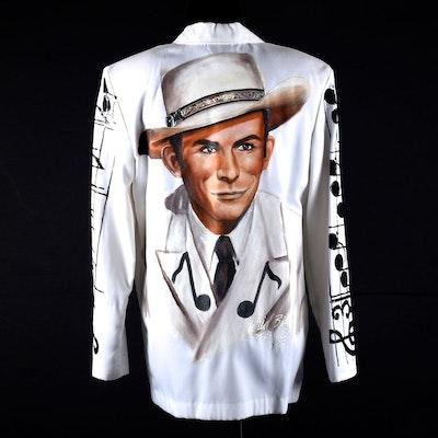Wild Billye's Starwear Hand Decorated Blazer Depicting Hank Williams