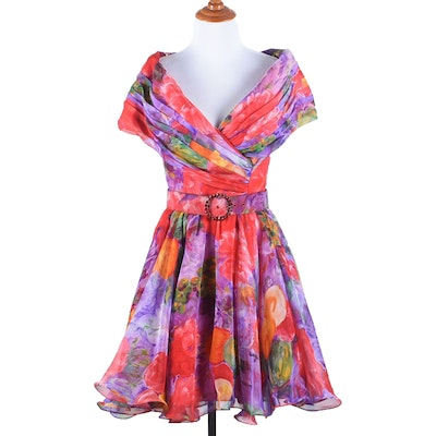 Tanya's Tadashi Floral Print Cocktail Dress Worn at The Kentucky Derby