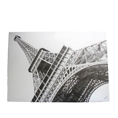 Eiffel Tower Print on Canvas
