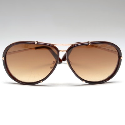 Pair of Tom Ford Cyrille Aviator Sunglasses