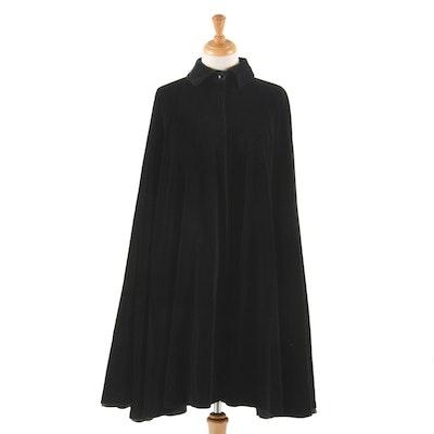 Women's Vintage Ungaro Black Velvet Cape
