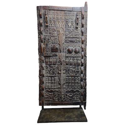 Malian Carved Granary Door
