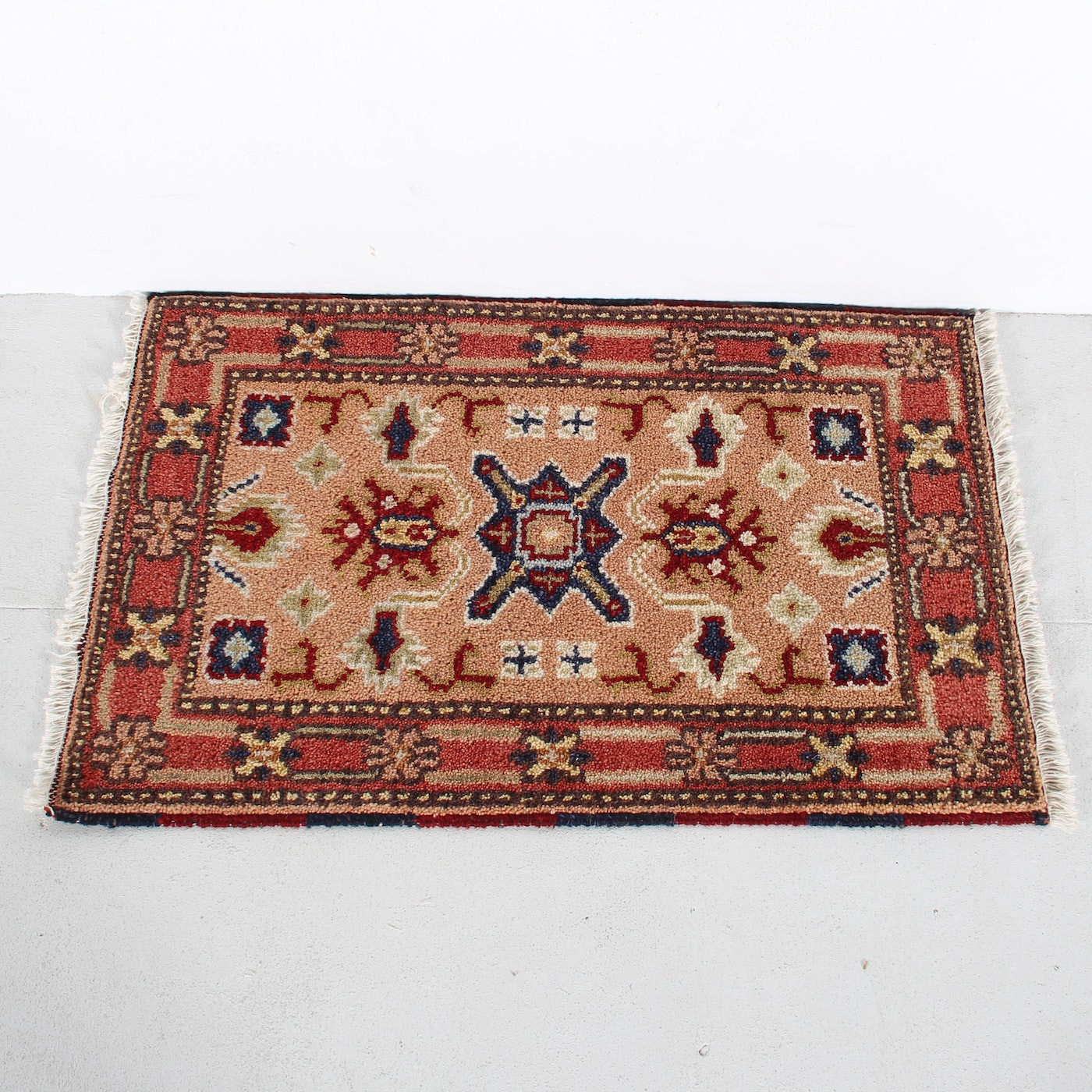 Hand Knotted Indo Persian Obeetee Wool Area Rug Ebth: Hand Knotted Serapi Rug : EBTH