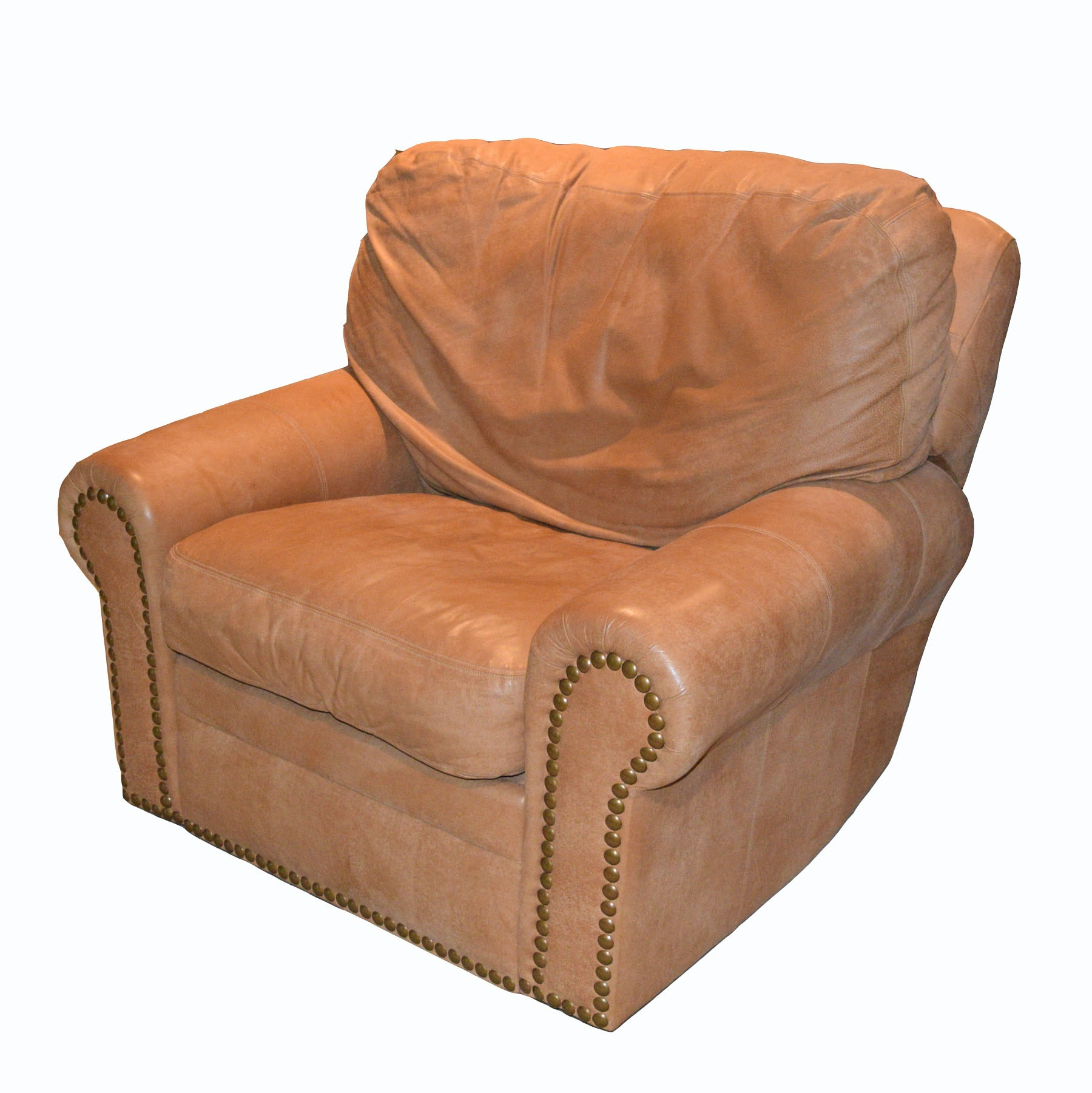 Expressions Furniture Pigskin Leather Swivel Rocking Recliner Chair ...