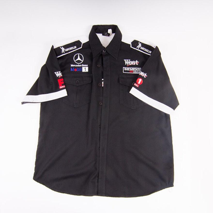 west mclaren mercedes-benz xxl racing shirt : ebth