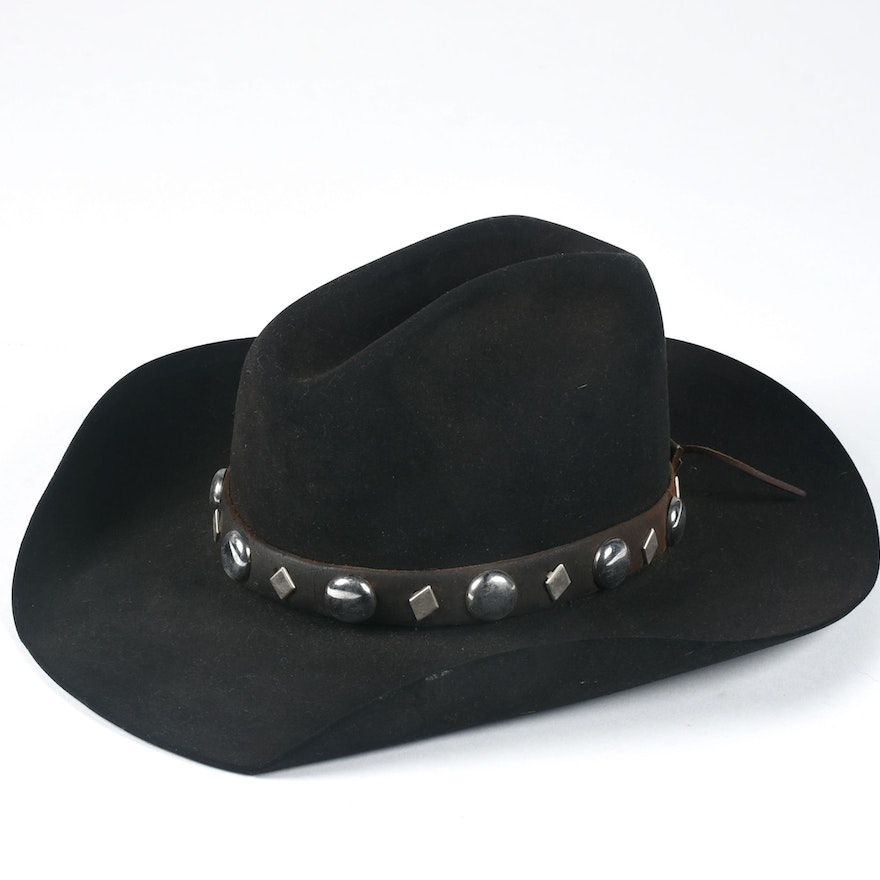 bf31379f Vintage Black Felt Cowboy Hat Hand Picked for Ralph Lauren Collections ...