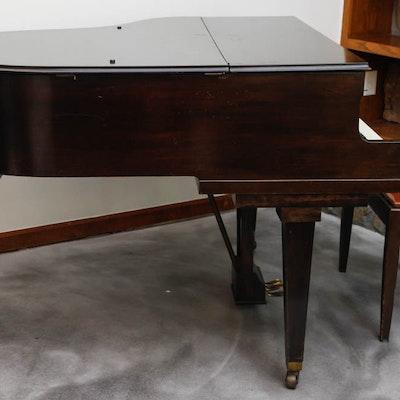 Apollo Mahogany Baby Grand Piano