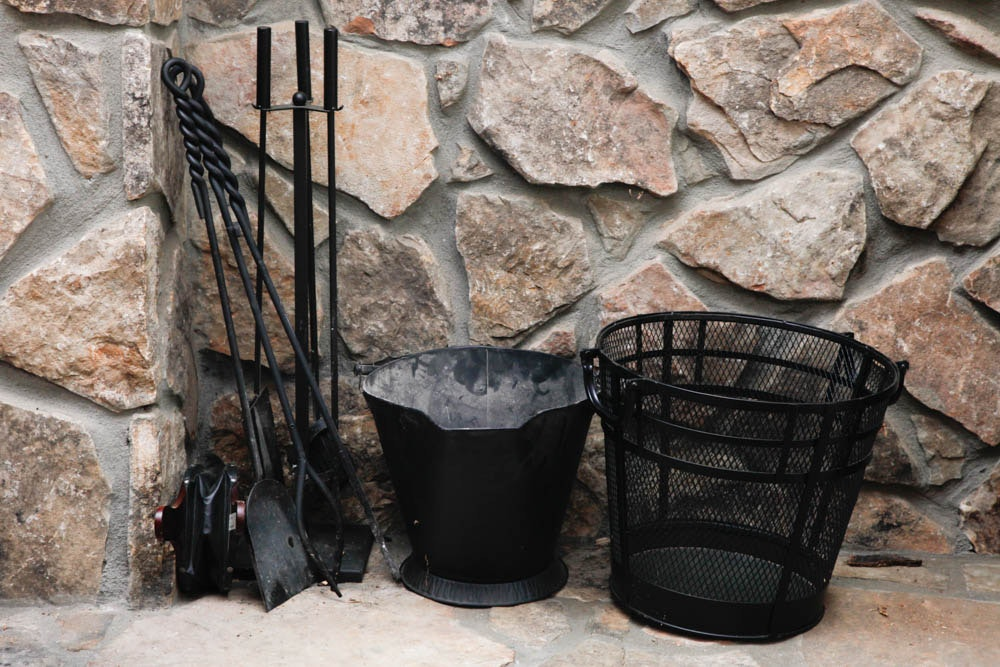 cast iron fireplace tools ebth