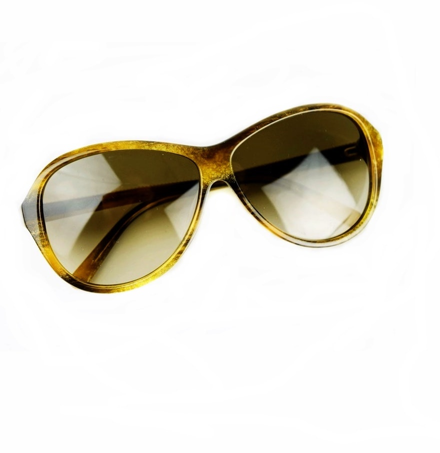 Gold Color Frame Sunglasses : David Yurman Gold Frame Designer Sunglasses in Pewter ...