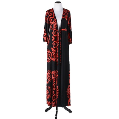 Red and Black Maxi Dress by Pink Polkadot Tanya Wore at Her 50th Birthday Party