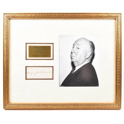 Alfred Hitchcock Autograph and Photograph