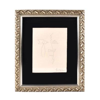 "Pablo Picasso Engraving, Plate XXXIV of ""Carmen"""