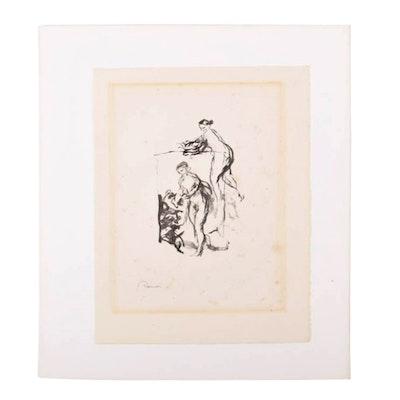 """Pierre-Auguste Renoir Lithograph """"Femme au cep de Vigne"""""""