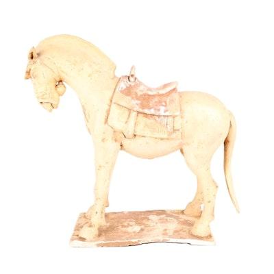 c.1850 Chinese Ceramic Horse Sculpture