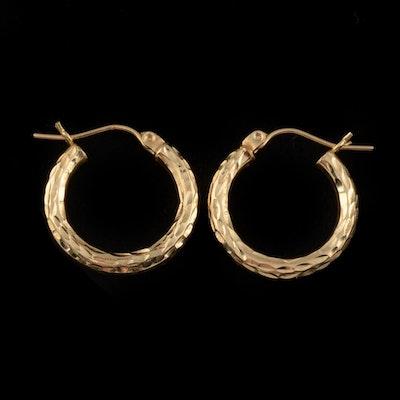 Pair of 14K Yellow Gold Hoop Earrings