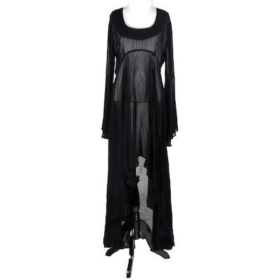 Les Habitudes of Los Angeles Black Chiffon Dress